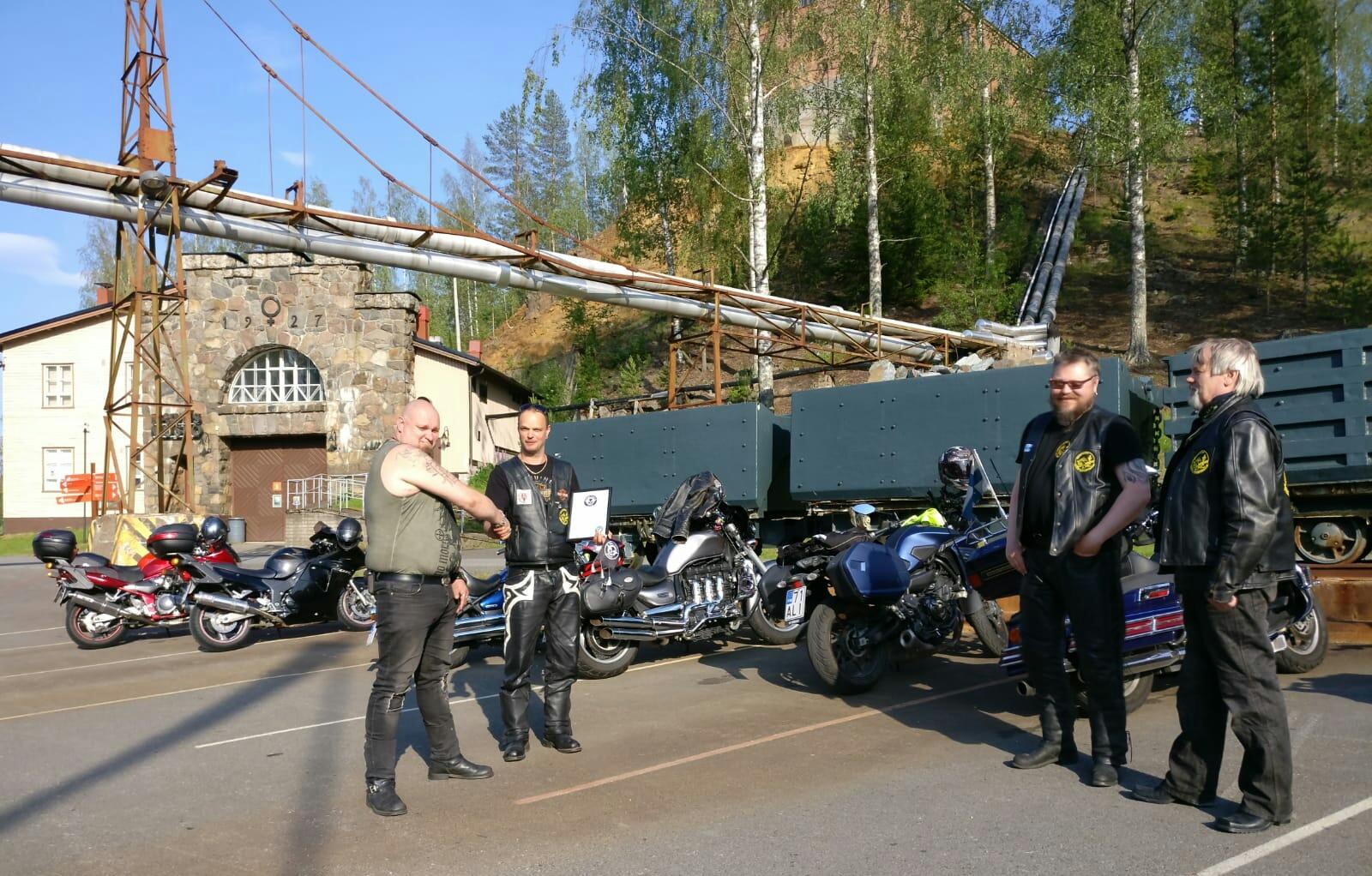 Lämmin kiitos Kuopion Moottoripyöräclubille!