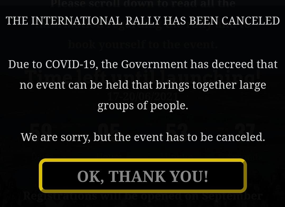 Kansainvälinen Ralli Espanjassa peruttu