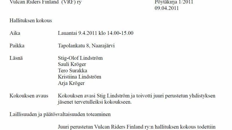Vulcan Riders Finland 10-vuotta